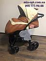 Детская коляска 2 в 1 Classik ( Классик) Victoria Gold эко кожа кор-беж, фото 5