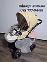 Детская коляска 2 в 1  Classik (Классик) Victoria Gold эко кожа беж, фото 3