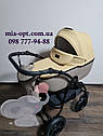 Детская коляска 2 в 1  Classik (Классик) Victoria Gold эко кожа беж, фото 2