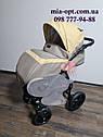 Детская коляска 2 в 1  Classik (Классик) Victoria Gold эко кожа беж, фото 6