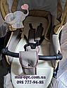 Детская коляска 2 в 1  Classik (Классик) Victoria Gold эко кожа беж, фото 4
