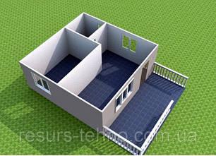 Проекти дачних будиночків 6м х 6м