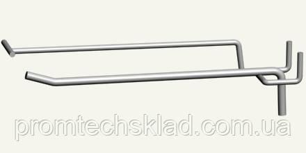 Крючок одинарный с ценникодержателем на перфорацию, длина 200 мм