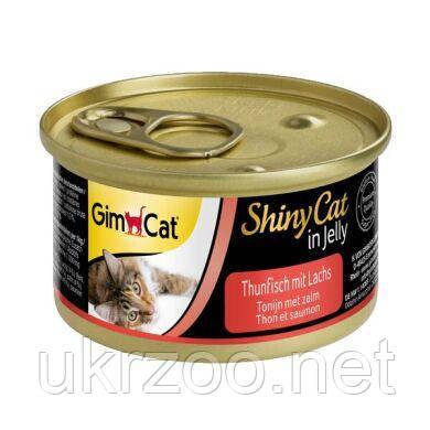 Влажный корм для кошек GimCat Shiny Cat 70 г (лосось и тунец) 414317/ 414195