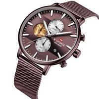 Красивые мужские часы Naviforce NF9169 All Brown