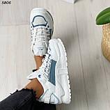 Кроссовки женские белые 5806, фото 3