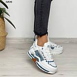 Кроссовки женские белые 5806, фото 6