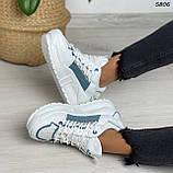 Кроссовки женские белые 5806, фото 4