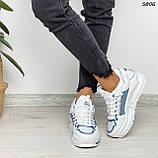 Кроссовки женские белые 5806, фото 10