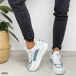 Кроссовки женские белые 5806, фото 9
