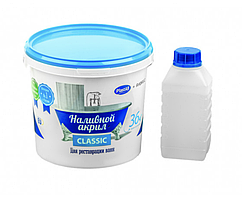 Наливной жидкий акрил для реставрации ванн Plastall (Пластол) Classic для ванны 1.5 м (3 кг) Оригинал