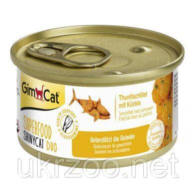 Влажный корм для кошек GimCat Superfood 70 г (тунец и тыква) 414737