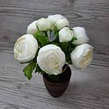 Букет белых лютиков 6 больших и 3 маленьких цена 185 грн., фото 2