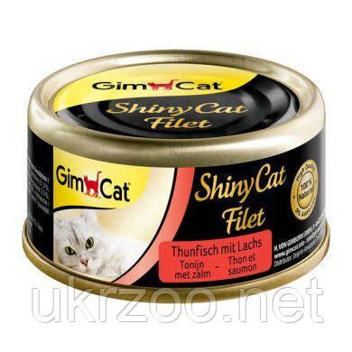 Влажный корм для кошек GimCat Shiny Cat Filet 70 г (тунец и лосось) 414201