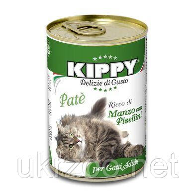 Влажный корм для кошек Kippy Cat 400 г (говядина)