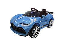 Детский электромобиль Bugatti (голубой цвет) с пультом радиоуправления Bluetooth 2.4G