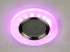 Точечный светильник с LED подсветкой встраиваемый потолочный светодиодный 17870R WH+PK