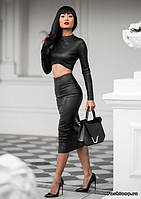 Очень стильный костюм, топ+юбка, фото 1