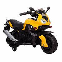 Детский электромобиль-мотоцикл Tilly BMW (желтый цвет)