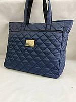 Стильная стеганая вместительная женская сумка