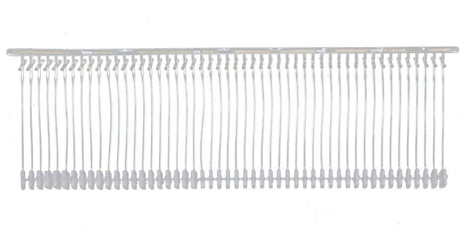 Пластиковый соединитель для крепления ярлыка под игольчатый пистолет белый 35 мм