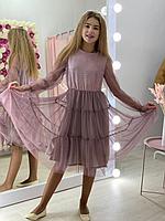 Нарядное фатиновое платье Блеск р 146-164