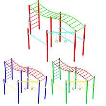 """Гімнастичний комплекс """"Хвиля 3"""" без баскетбольного кільця DIO659.2"""