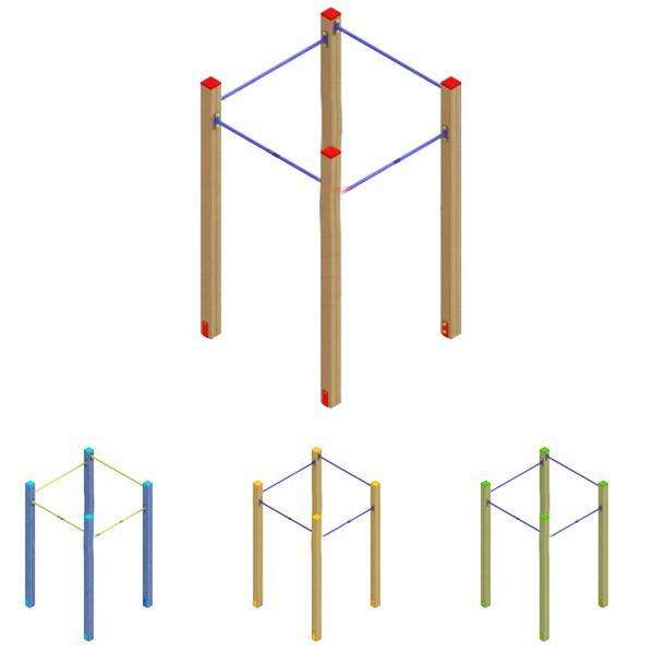Турнік квадрат 2 DIO646.1 для спортивної і дитячої площадки.