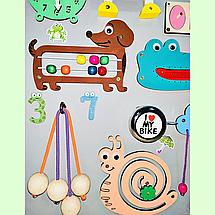 Развивающая доска размер 50*60 Бизиборд для детей 41 элемент!, фото 2