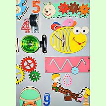 Развивающая доска размер 50*60 Бизиборд для детей 41 элемент!, фото 3