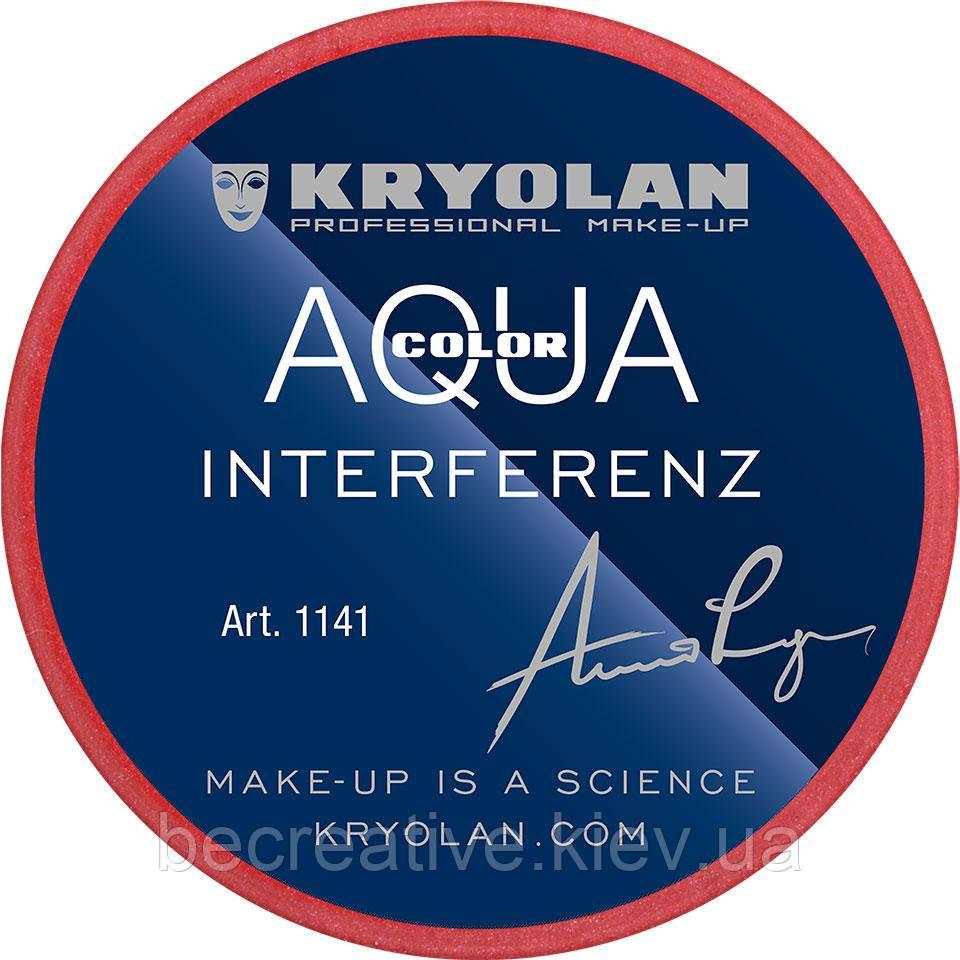 Красный глянцевый аквагрим AQUACOLOR INTERFERENZ, 8 мл (оттенок 079 G)