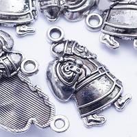 Кулон Дед Мороз, Металл, Цвет: Античное Серебро, Размер: 25х13х4мм, Отверстие 2мм, (УТ000005742)