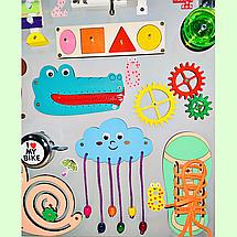 """Розвиваюча дошка розмір 50*60 Бизиборд для дітей """"Равлик"""" на 41 елемент!, фото 2"""