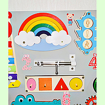 """Розвиваюча дошка розмір 50*60 Бизиборд для дітей """"Равлик"""" на 41 елемент!, фото 3"""
