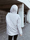 Пуховик с капюшоном прошитый серый, фото 2