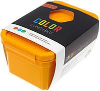 Ланч бокс пласт. 850мл помаранч. з наклейками №NP-77(34)