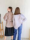 Рубашка из пальтовой ткани с поясом ROMASHKA лиловая, фото 5