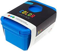 Ланч бокс пласт. 850мл синій з наклейками №NP-78(34)