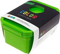 Ланч бокс пласт. 850мл зелений з наклейками №NP-79(34)