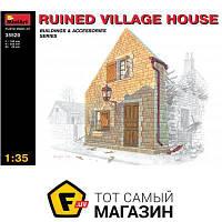 Модель 1:35 - Miniart - Ruined village house (MA35520) пластмасса