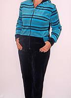Красивый женский велюровый костюм Морячка , фото 1