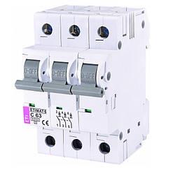 Автоматический выключатель ETI ETIMAT 6 3Р 63A C 6kA