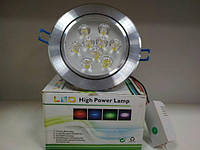 Врезная LED лампа 9W