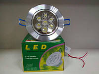 Врезная LED лампа 7W