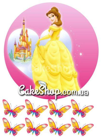 Сахарная картинка Принцесса Белль