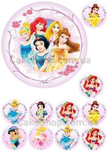 Сахарная картинка Диснеевские принцессы 1