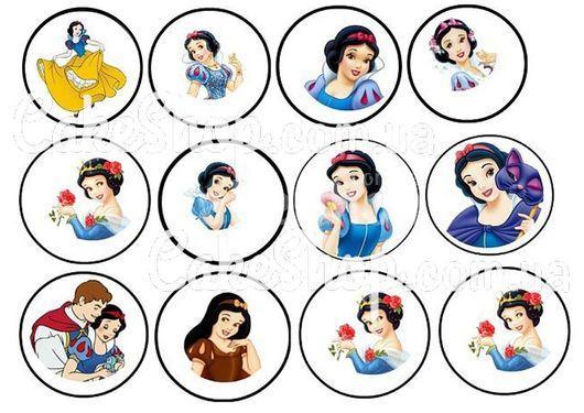 Сахарная картинка Диснеевские принцессы 8