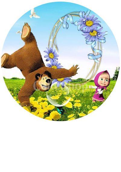 Вафельная картинка Маша и Медведь 3