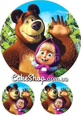 Сахарная картинка Маша и Медведь 8