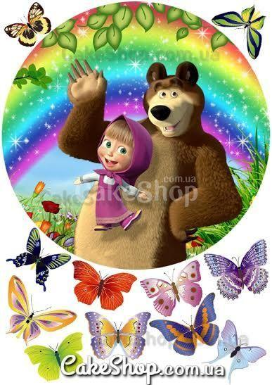 Сахарная картинка Маша и Медведь 16
